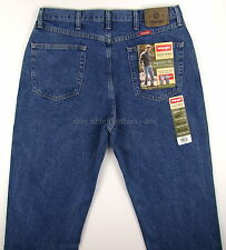Wrangler Jeans Mens REGULAR FIT - DARK STONEWASH Size 36 x 34 New Straight Leg
