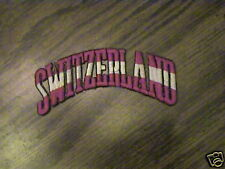 100% EMBROIDERED SWITZERLAND SKI,SOCCER,COUNTRY PATCH