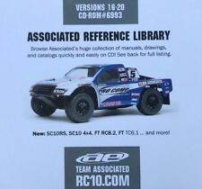 Team Associated Données CD 2010 Reference Library Manual 6993 v20 vintage Association