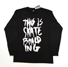 T-shirt EMERICA noir manches longues Taille M Neuf