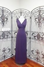 L31 AFTER SIX 6662 SZ 12 CONCORD K89 PURPLE LONG CHIFFON BRIDESMAID PROM GOWN