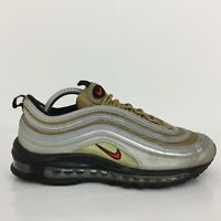Nike Air Max 97 Metallic Silver Gold Leather Trainer BV0306-001 UK 7 Eur 41