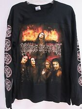 NEW - CRADLE OF FILTH TONIGHT IN FLAMES MUSIC T-SHIRT LONG SLEEVE EXTRA LARGE