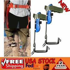 2 Gears Treepole Climbing Spike Safety Belt Straps Rope Lanyard Adjustable Usa
