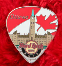 Hard Rock Cafe Pin TORONTO Postcard GUITAR PICK LE100 series canada flag facade