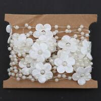 Schleifenband Perlen silber silberne Hochzeit 0,98 €//m 15m Perlengirlande
