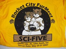2007 Furmeet Furry Anime Convention Con XL T-SHIRT Rocket City Anthro Cosplay