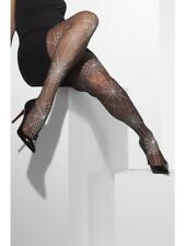 Fever Hosiery Black Spider Web Print Tights Fancy Dress Halloween Witch