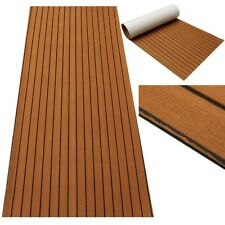"Flooring Synthetic Teak EVA Foam Sheet Boat Decking Self-Adhesive 35"" X 90"" 6MM"