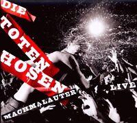 "DIE TOTEN HOSEN ""MACHMALAUTER LIVE"" 2 CD 37 TRACKS NEU"