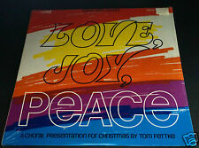 LOVE JOY PEACE Christmas Choral TOM FETTKE Vintage LP Vinyl NEW Sealed Record