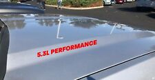 5.3L Performance Hood Decal Sticker Emblem Logo GM Vortec Chevy Silverado Red