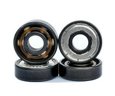 8PCS 608 8X22X7 BSB skate roller inline Pro ceramic bearings with 6 white beads
