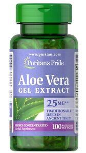 Puritan's Pride Aloe Vera Extract 25 mg - 100 Softgels (free shipping)