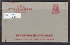 """POSTAL STATIONARY:1944  L46  2 1/2d RED  KGVI  LETTER CARD MINT """"DO NOT NEGLECT"""""""