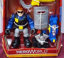Fisher Price Rescue Heroes Hero World Captain Cuffs Shield Luncher Backpack NEW