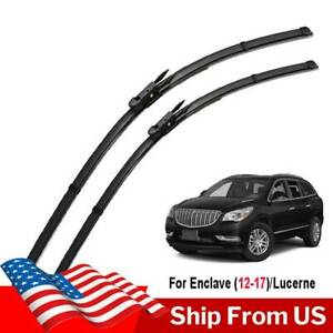 2Pcs Fit For Buick Lucerne 05-10 Enclave 12-17 Front Windshield Wiper Blades Set