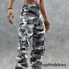 """1/6 Scale Military Snow Camouflage Pants Army Combat Camo Pants  For 12"""" Doll F"""