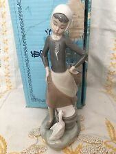 Lladro 4682 Girl with Milk Pail Retired Original Blue Box Mint Condition! Glossy