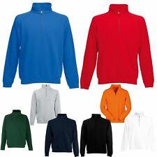 Mens Half Zip Fleece Jumper Pullover Jacket Sweater Top Colours Sale SNS APPAREL