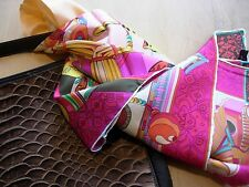 100% Silk twill scarf in whimsical chinese opera print fashion accessory wrap