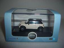 Oxford 76NMN002 NMN002 1/76 OO SCale New BMW Mini Pepper White Black Roof
