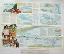 1987 National Geographic map The making of America, West Indies