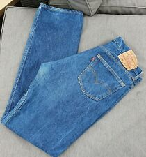 💙 AUTHENTIC VINTAGE LEVI 501 Red Tab Jeans W34 L34 Button Fly Mid Blue Rinse