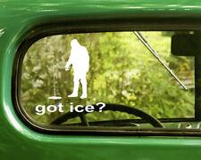 2 Got Ice? Fishing Decals Sticker For Car Window Bumper Laptop Jeep Rv