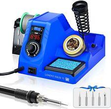 Soldering Iron Station Kit 392896 Adjustable Temp Led Display Digital Blue