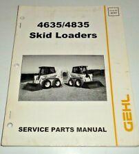 Gehl 4635 4835 Skid Steer Loader Parts Manual Catalog Book Original 399