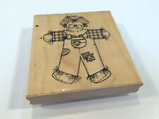 D.O.T.S. Dots Rubber Stamp Large Chester Scarecrow R123