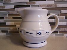 """Longaberger Woven Traditions """"Classic Blue"""" 32 Ounce 4 Cup Pitcher"""