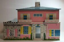 Superior Vintage 1950's Toy Metal Doll House Tin Litho 👀