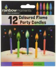 Boxer Gifts Rainbow Moments Coloured Flame Birthday Party Candles | Pack Of 12