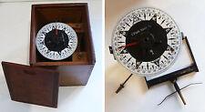 ANCIENNE BOUSSOLE COMPAS DE BORD C. PLATH HAMBURG / Bordkompass Schiffskompass