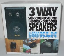 KLH Model 403 Weatherized Indoor Outdoor Speakers NEW IN BOX FREE SHIPPING