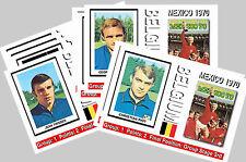 BELGIUM - 1970 WORLD CUP  SERIES 1 - COLLECTORS POSTCARD SET
