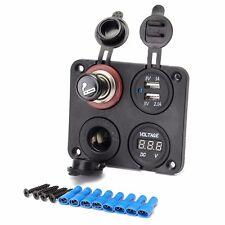 12V 4 in One Car Cigarette Lighter Socket Splitter Charger Power Adapter Outlet