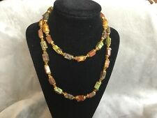 MIXED AGATE & SERPENTINE BEADED NECKLACE