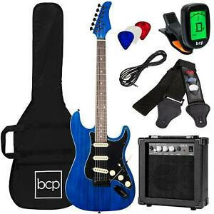 39 Inch Beginner Electric Guitar Kit With Case 10W Amp And Tremolo Bar Multi