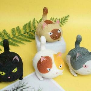 3D Cat Squeeze Toy Stress Reliever Fidget Stress Ball Kids Anxiety Relief gift