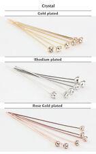 Genuine SWAROVSKI Crystal Head Pins with 1088 XIRIUS Chatons