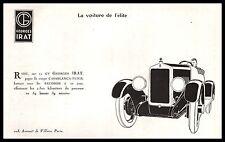 Publicité Automobile Georges  Irat 11 cv  car vintage print ad  1924 - 1j