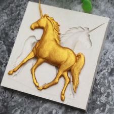 Unicorn Horse Silicone Chocolate Fondant Zoo Animal Cake Decorating Baking Mould