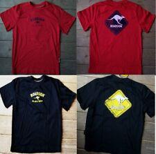 116 122 Kinder T Shirt mit Känguru Schild red oder black Australien