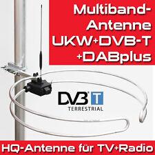 HQ Multiband-Außen-Antenne - UKW-Stereo, DVB-T2, DAB+, UHF Ringdipol Runddipol