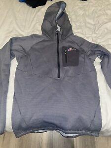 Mens Berghaus 1/2 Zip Hoodie Grey Small 10/10 Condition