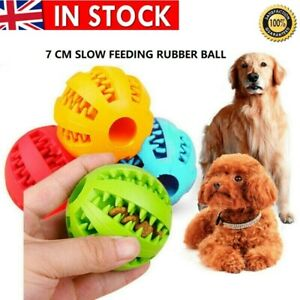 5cm BIG Pet Dog Puppy Teething Treat Clean Toy Durable Rubber Food Ball Chew UK