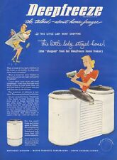 1946 vintage appliance AD DEEPFREEZE home freezer Unique Round Design  012116